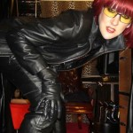 mistress wearing leather
